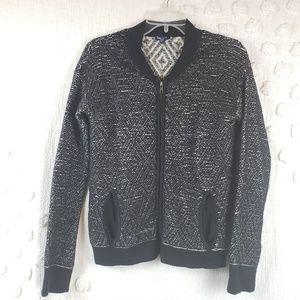Splendid Black & White  Zip up Cardigan  Medium